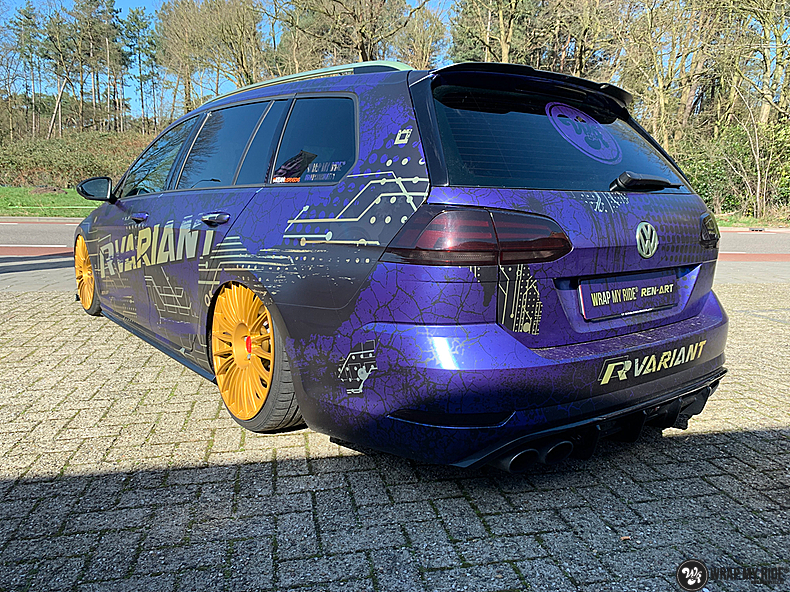 VW golf 7,5 R Variant, Carwrapping door Wrapmyride.nu Foto-nr:13979, ©2021