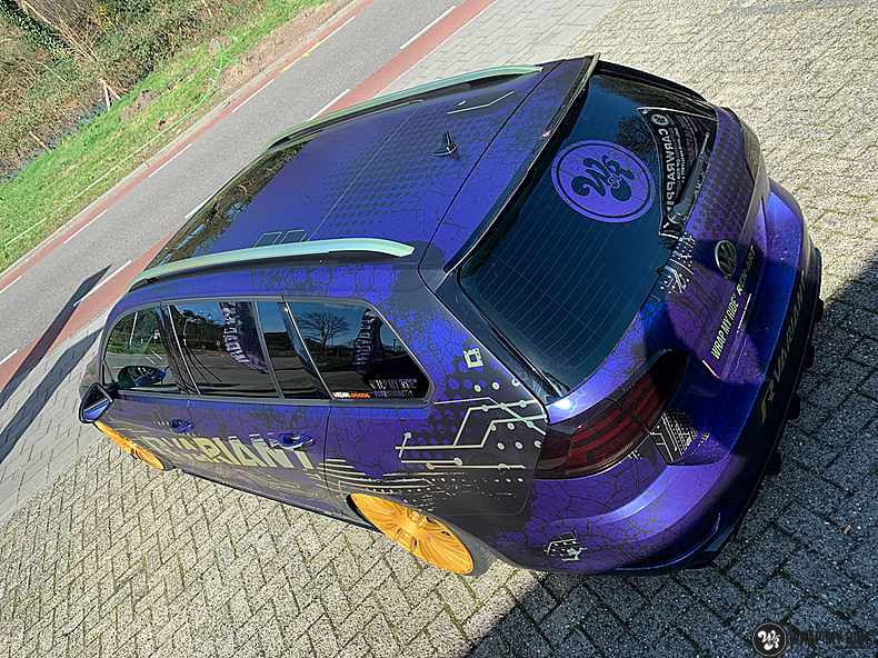 VW golf 7,5 R Variant, Carwrapping door Wrapmyride.nu Foto-nr:13978, ©2021