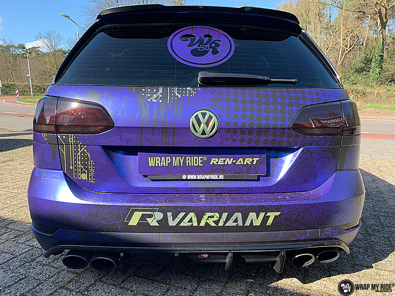 VW golf 7,5 R Variant, Carwrapping door Wrapmyride.nu Foto-nr:13972, ©2021