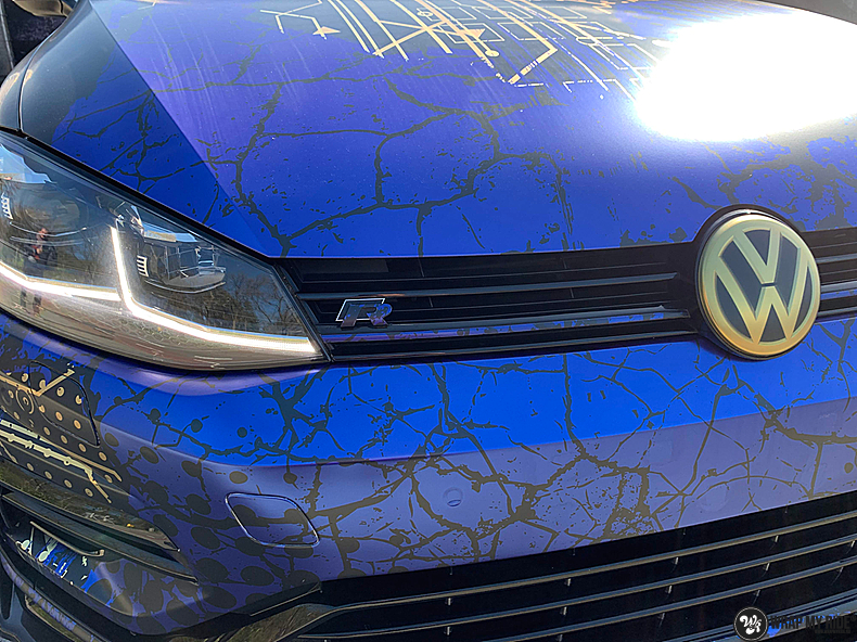VW golf 7,5 R Variant, Carwrapping door Wrapmyride.nu Foto-nr:13968, ©2021