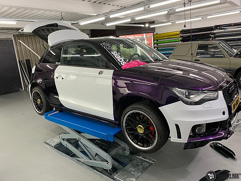 Audi A1 inozotec midnight purple, Carwrapping door Wrapmyride.nu Foto-nr:13712, ©2020