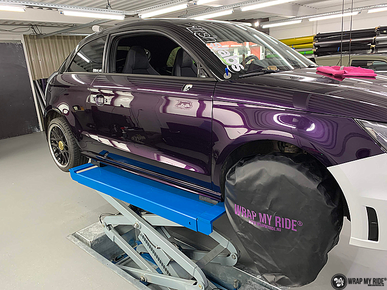 Audi A1 inozotec midnight purple, Carwrapping door Wrapmyride.nu Foto-nr:13718, ©2020