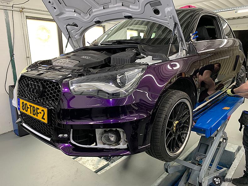 Audi A1 inozotec midnight purple, Carwrapping door Wrapmyride.nu Foto-nr:13721, ©2020
