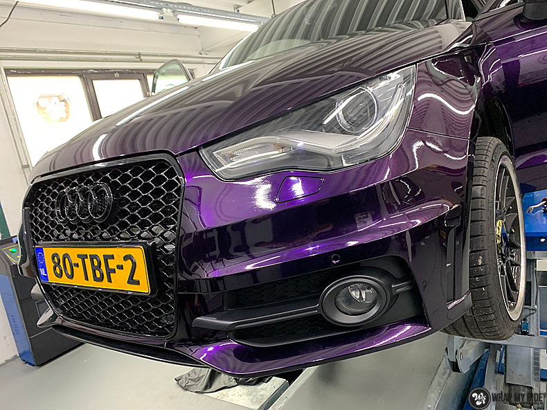 Audi A1 inozotec midnight purple, Carwrapping door Wrapmyride.nu Foto-nr:13726, ©2021