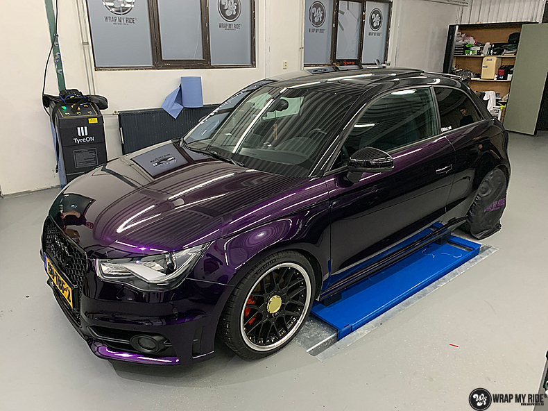 Audi A1 inozotec midnight purple, Carwrapping door Wrapmyride.nu Foto-nr:13731, ©2021