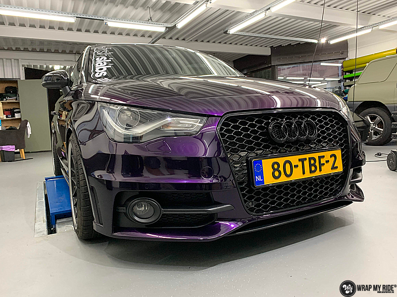 Audi A1 inozotec midnight purple, Carwrapping door Wrapmyride.nu Foto-nr:13733, ©2021