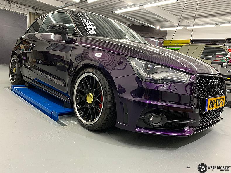 Audi A1 inozotec midnight purple, Carwrapping door Wrapmyride.nu Foto-nr:13734, ©2020