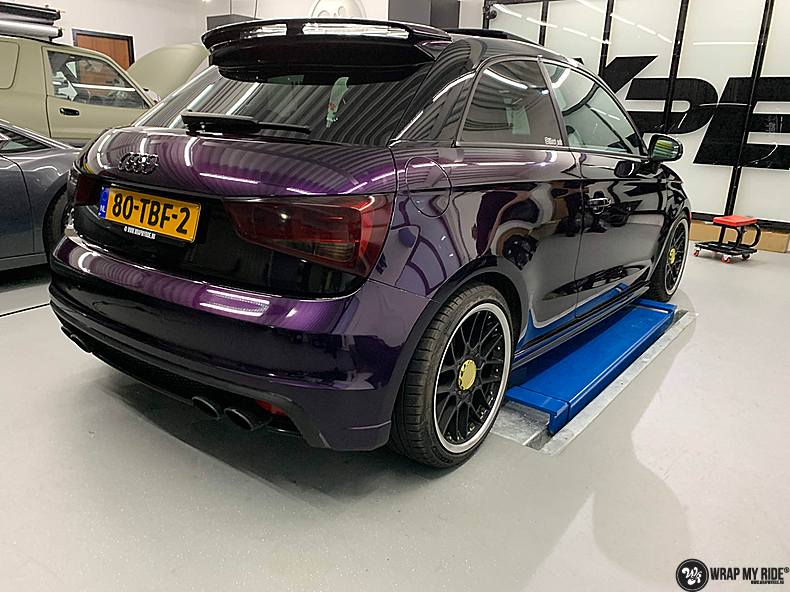 Audi A1 inozotec midnight purple, Carwrapping door Wrapmyride.nu Foto-nr:13736, ©2021