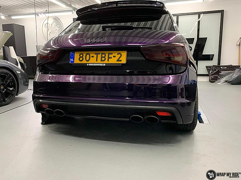 Audi A1 inozotec midnight purple, Carwrapping door Wrapmyride.nu Foto-nr:13737, ©2020