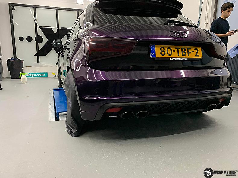Audi A1 inozotec midnight purple, Carwrapping door Wrapmyride.nu Foto-nr:13738, ©2020