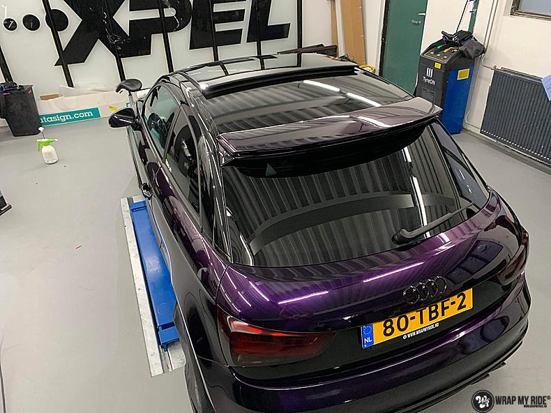Audi A1 inozotec midnight purple, Carwrapping door Wrapmyride.nu Foto-nr:13739, ©2020