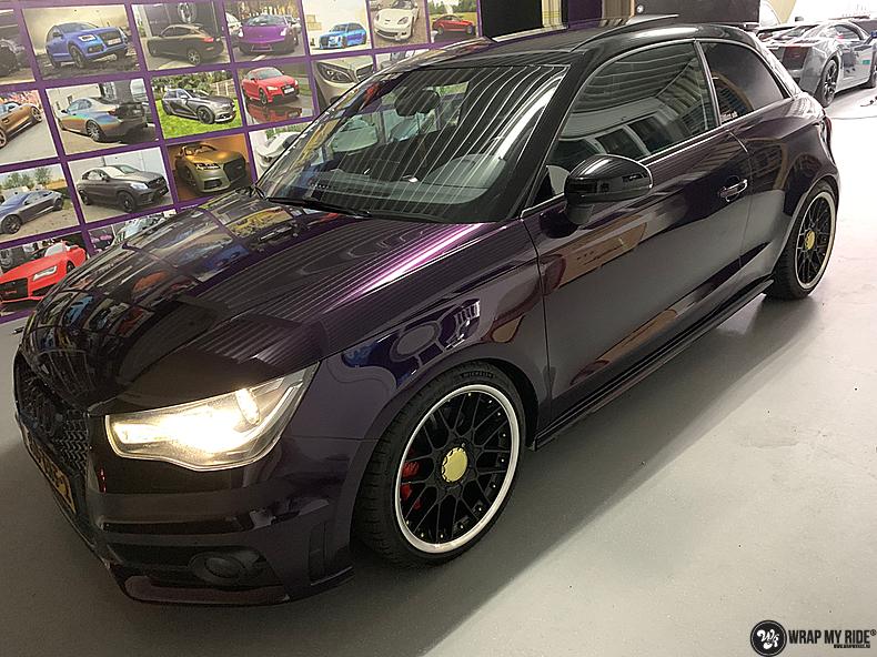Audi A1 inozotec midnight purple, Carwrapping door Wrapmyride.nu Foto-nr:13740, ©2020