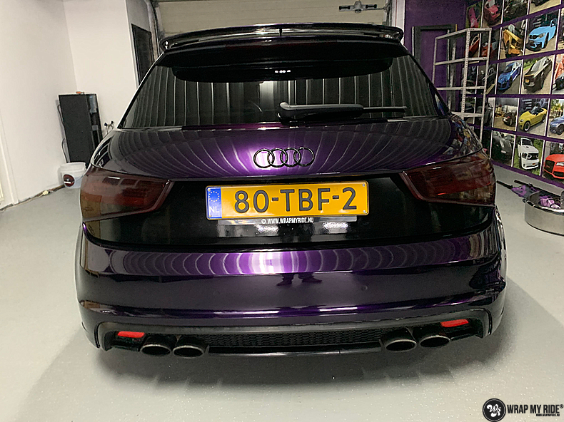 Audi A1 inozotec midnight purple, Carwrapping door Wrapmyride.nu Foto-nr:13742, ©2021