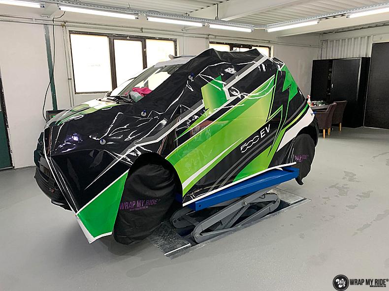 fiat 500 EV full colour wrap, Carwrapping door Wrapmyride.nu Foto-nr:13358, ©2021