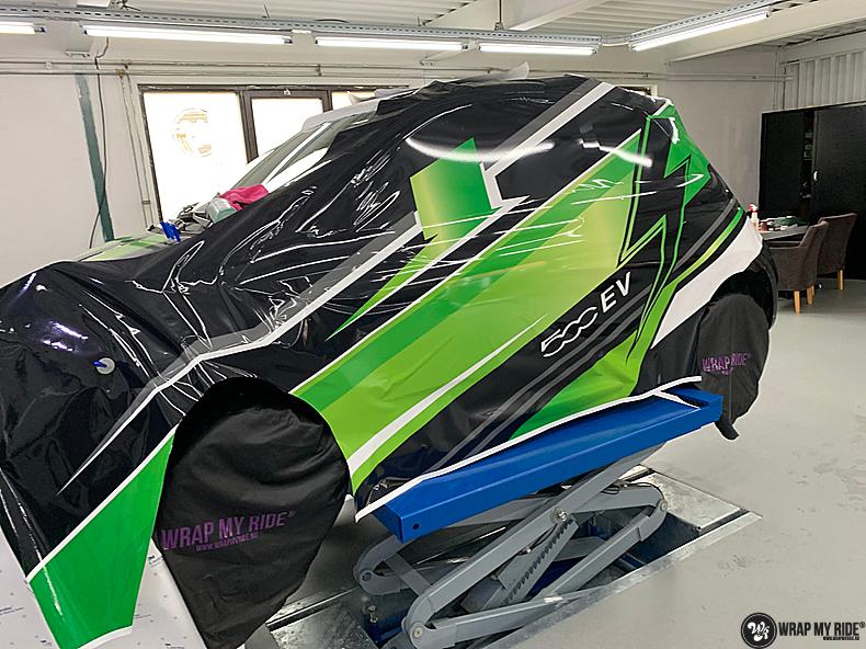 fiat 500 EV full colour wrap, Carwrapping door Wrapmyride.nu Foto-nr:13355, ©2021