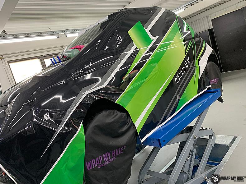 fiat 500 EV full colour wrap, Carwrapping door Wrapmyride.nu Foto-nr:13354, ©2021