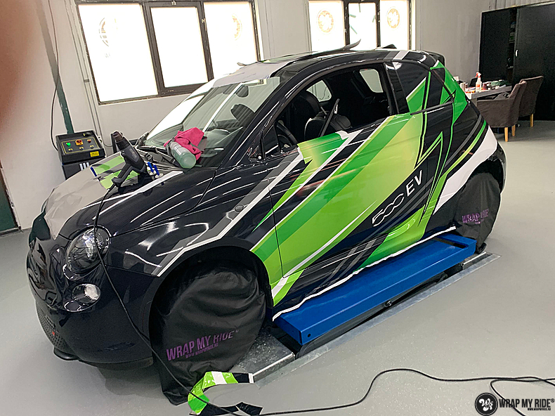 fiat 500 EV full colour wrap, Carwrapping door Wrapmyride.nu Foto-nr:13356, ©2021