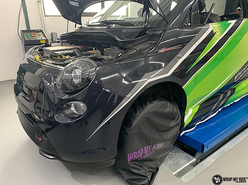fiat 500 EV full colour wrap, Carwrapping door Wrapmyride.nu Foto-nr:13389, ©2021