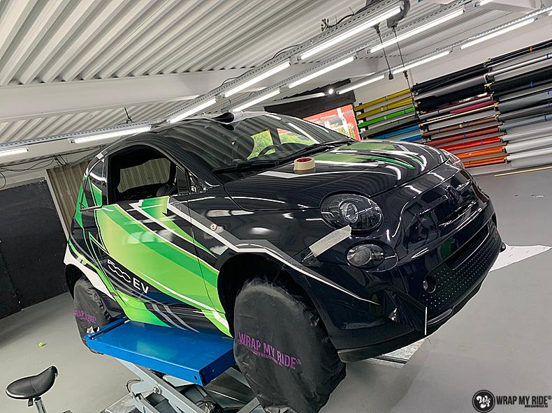 fiat 500 EV full colour wrap, Carwrapping door Wrapmyride.nu Foto-nr:13388, ©2021