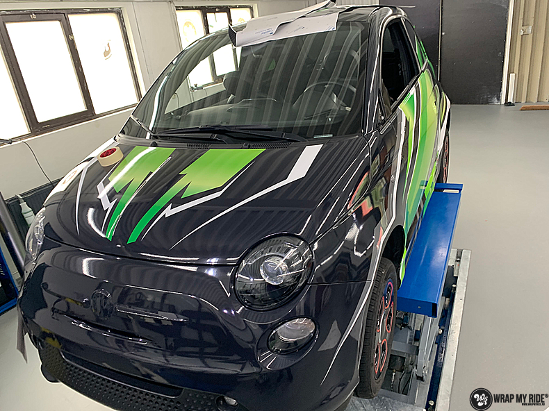 fiat 500 EV full colour wrap, Carwrapping door Wrapmyride.nu Foto-nr:13386, ©2021