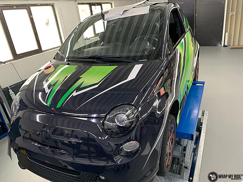 fiat 500 EV full colour wrap, Carwrapping door Wrapmyride.nu Foto-nr:13386, ©2021