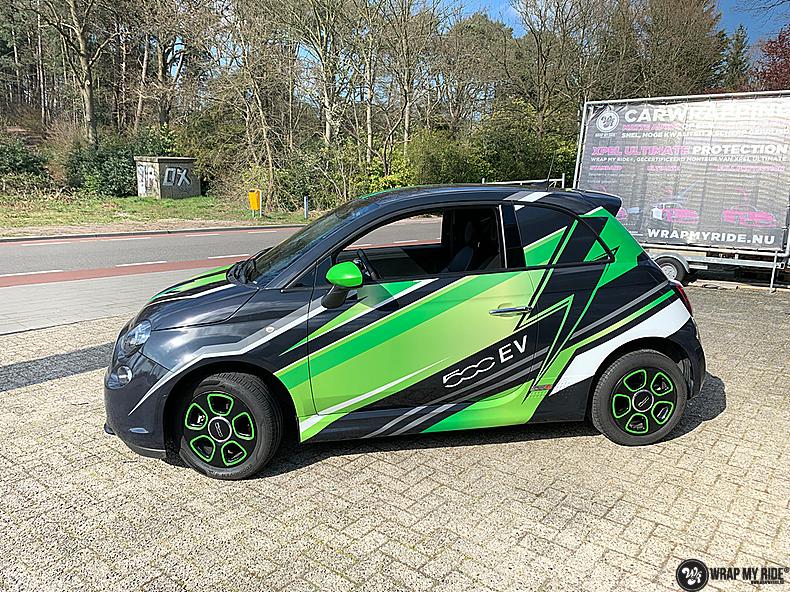 fiat 500 EV full colour wrap, Carwrapping door Wrapmyride.nu Foto-nr:13385, ©2021