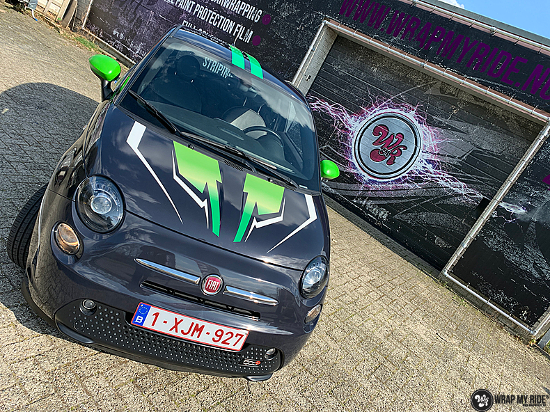 fiat 500 EV full colour wrap, Carwrapping door Wrapmyride.nu Foto-nr:13382, ©2021