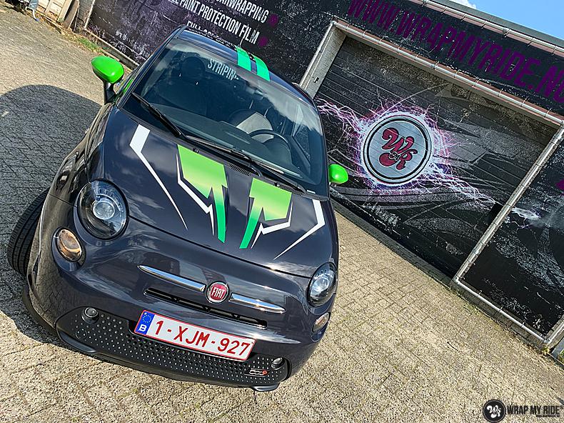 fiat 500 EV full colour wrap, Carwrapping door Wrapmyride.nu Foto-nr:13382, ©2021