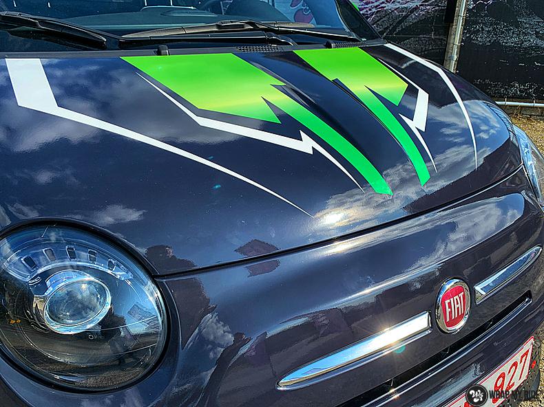 fiat 500 EV full colour wrap, Carwrapping door Wrapmyride.nu Foto-nr:13380, ©2021