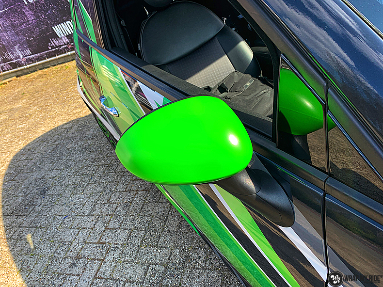 fiat 500 EV full colour wrap, Carwrapping door Wrapmyride.nu Foto-nr:13377, ©2021
