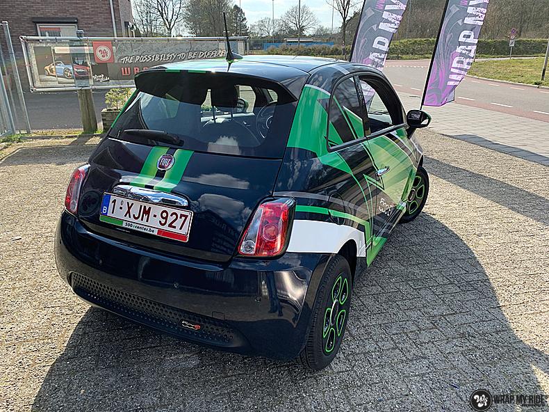 fiat 500 EV full colour wrap, Carwrapping door Wrapmyride.nu Foto-nr:13374, ©2021