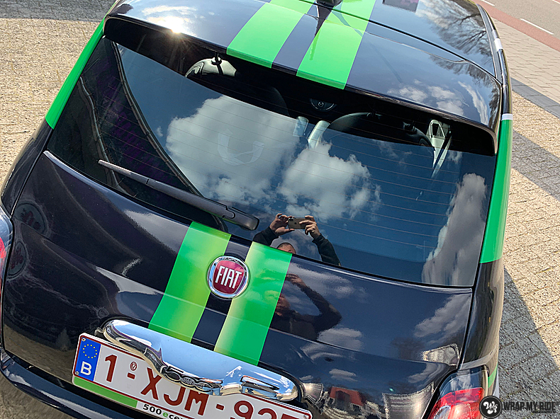 fiat 500 EV full colour wrap, Carwrapping door Wrapmyride.nu Foto-nr:13373, ©2021
