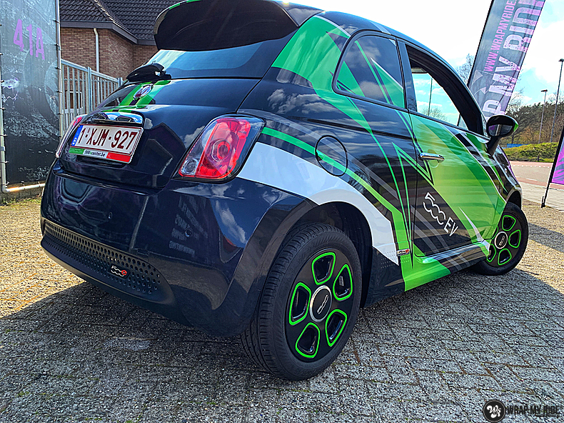 fiat 500 EV full colour wrap, Carwrapping door Wrapmyride.nu Foto-nr:13368, ©2021