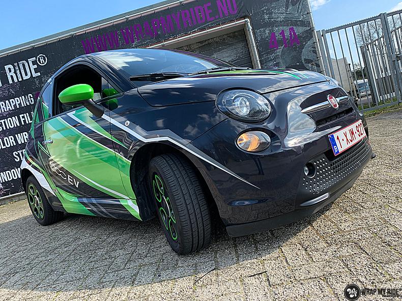 fiat 500 EV full colour wrap, Carwrapping door Wrapmyride.nu Foto-nr:13367, ©2021