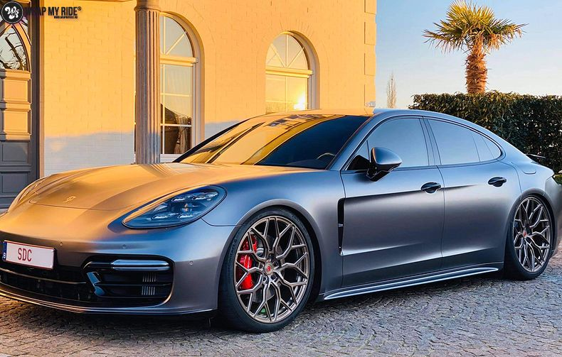 Porsche Panamera 4S satin dark grey, Carwrapping door Wrapmyride.nu Foto-nr:13302, ©2020
