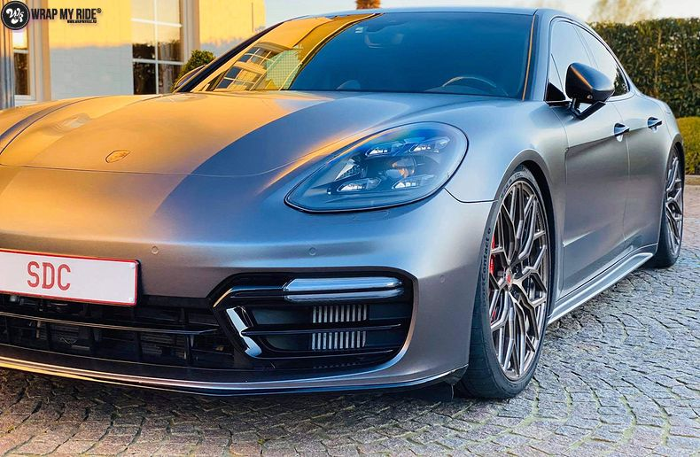 Porsche Panamera 4S satin dark grey, Carwrapping door Wrapmyride.nu Foto-nr:13303, ©2020