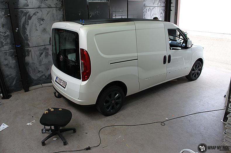 Fiat Dobla Satin Pearl White, Carwrapping door Wrapmyride.nu Foto-nr:13476, ©2021