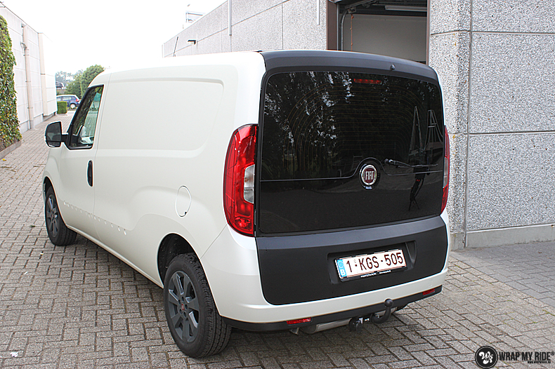 Fiat Dobla Satin Pearl White, Carwrapping door Wrapmyride.nu Foto-nr:13482, ©2021