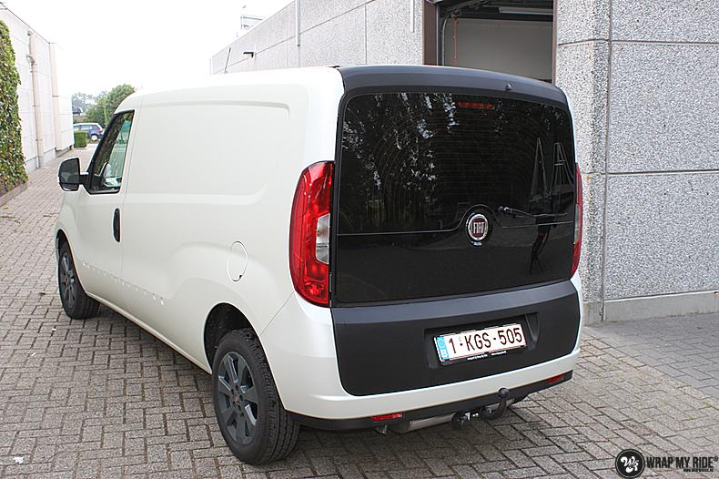Fiat Dobla Satin Pearl White, Carwrapping door Wrapmyride.nu Foto-nr:13482, ©2021