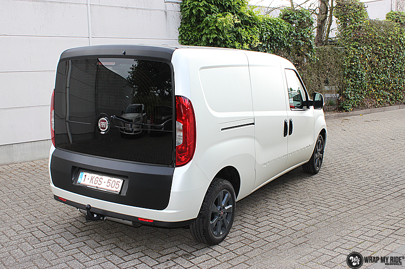 Fiat Dobla Satin Pearl White, Carwrapping door Wrapmyride.nu Foto-nr:13483, ©2021
