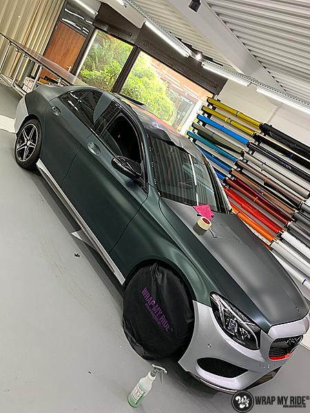 Mercedes C43 Matte Smaragd, Carwrapping door Wrapmyride.nu Foto-nr:13518, ©2020