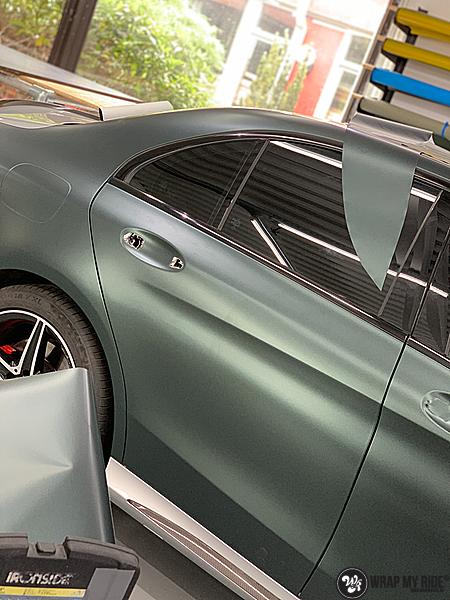 Mercedes C43 Matte Smaragd, Carwrapping door Wrapmyride.nu Foto-nr:13519, ©2020