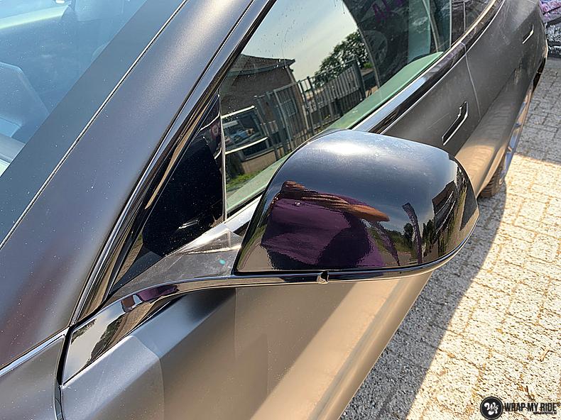 tesla model 3 Satin Black, Carwrapping door Wrapmyride.nu Foto-nr:13512, ©2021