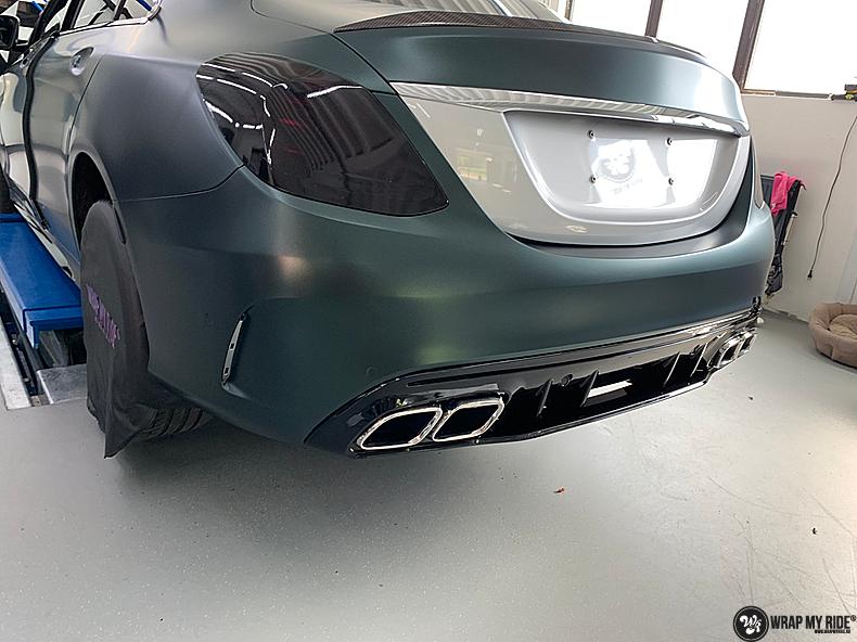 Mercedes C43 Matte Smaragd, Carwrapping door Wrapmyride.nu Foto-nr:13522, ©2020