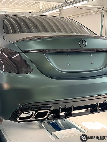 Mercedes C43 Matte Smaragd, Carwrapping door Wrapmyride.nu Foto-nr:13528, ©2020