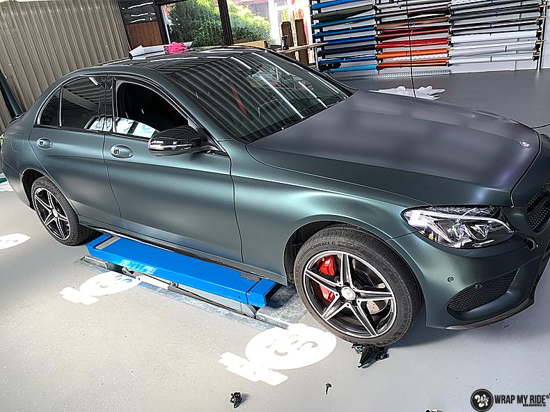 Mercedes C43 Matte Smaragd, Carwrapping door Wrapmyride.nu Foto-nr:13529, ©2020