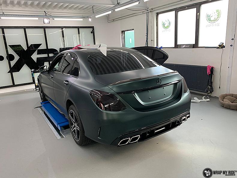 Mercedes C43 Matte Smaragd, Carwrapping door Wrapmyride.nu Foto-nr:13531, ©2020