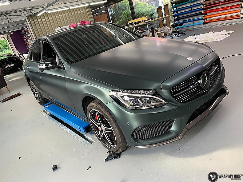 Mercedes C43 Matte Smaragd, Carwrapping door Wrapmyride.nu Foto-nr:13533, ©2020
