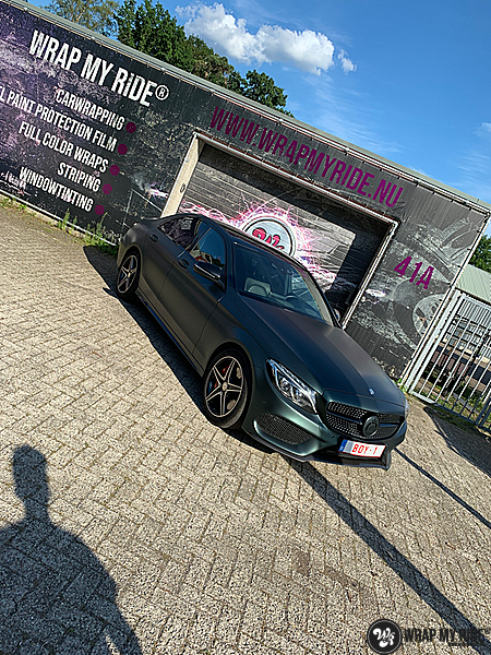 Mercedes C43 Matte Smaragd, Carwrapping door Wrapmyride.nu Foto-nr:13536, ©2020