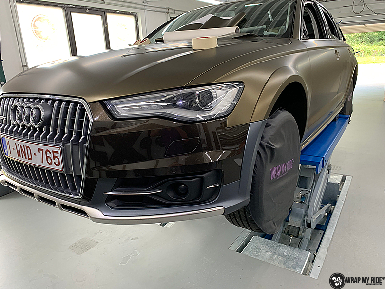 Audi A6 All-road Matte Bond Gold, Carwrapping door Wrapmyride.nu Foto-nr:13417, ©2020